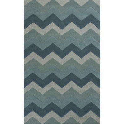 Zipcode Design Wilton Ocean Chevron Area Rug Rug Size: 5' x 8'
