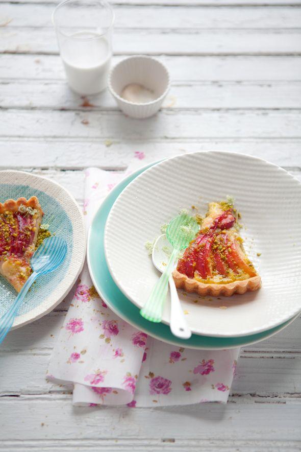 tart: Food Styles, Peaches Tarts, Summer Fruit, Pistachios Tarts ...