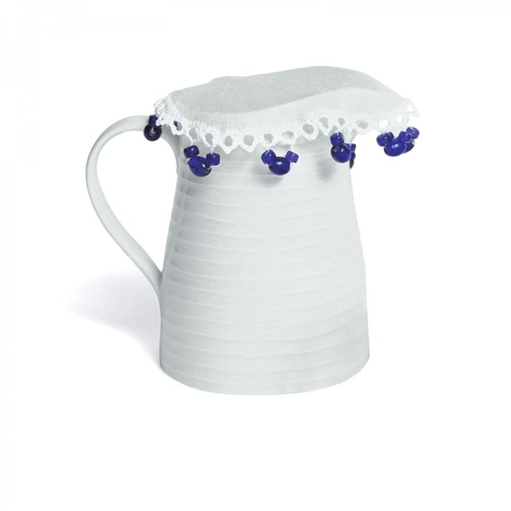Jug Covers with Blue Beads - David Mellor Design #cookware #kitchenware