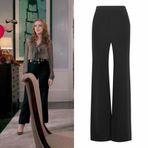 831e17195029 Fallon Carrington wears these Brandon Maxwell black crepe trousers on  Dynasty 1x07