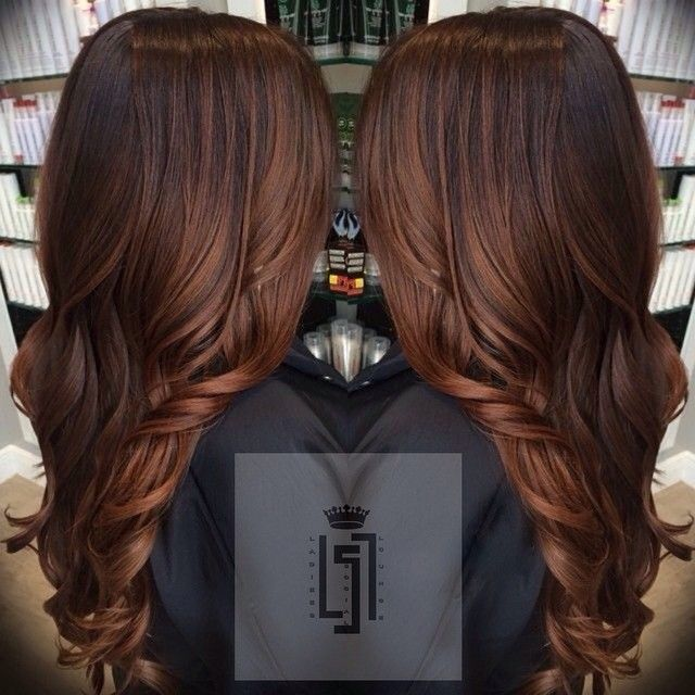 LOVE this cut + color. Gorgeous long brunette hair
