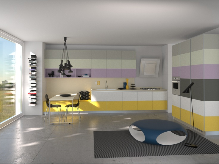 Tetrix by Micheal #Young #Scavolini #kitchen #Livingroom Colour Kit K7