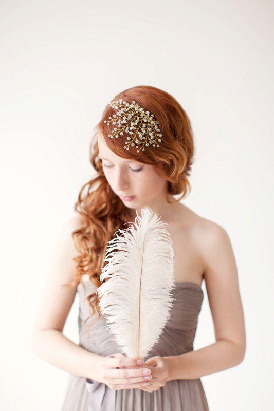 Gorgeous wedding headpiece