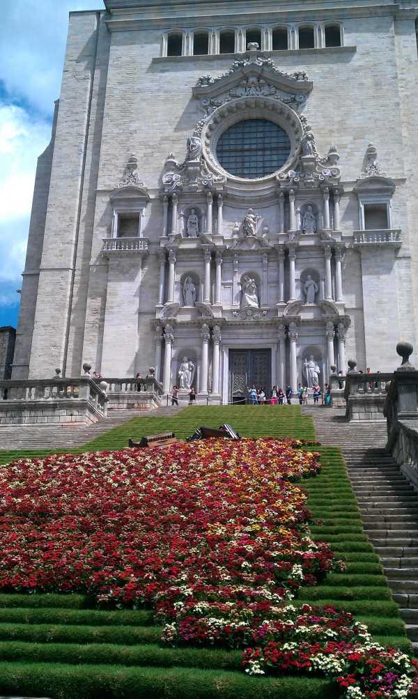 Girona's Cathedral (in Spain) for Girona in time of Flowers 2011
