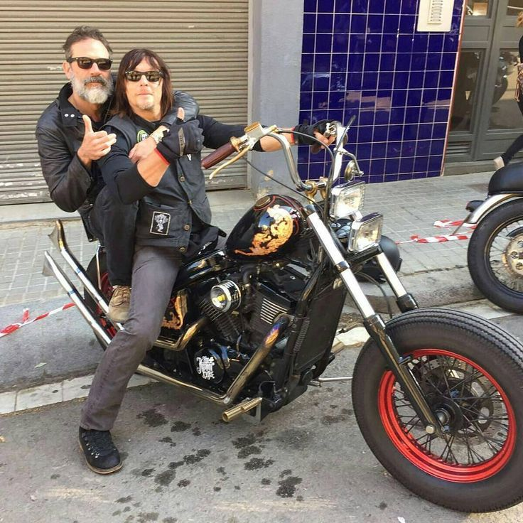 "Mrs. Reedus (@the_walking_snurfy) on Instagram: "" @Regrann from @sinful_fun - Filming #ridewithnormanreedus in Barcelona!#normanreedus…"" | Jeffrey Dean Morgan and Norman Reedus"