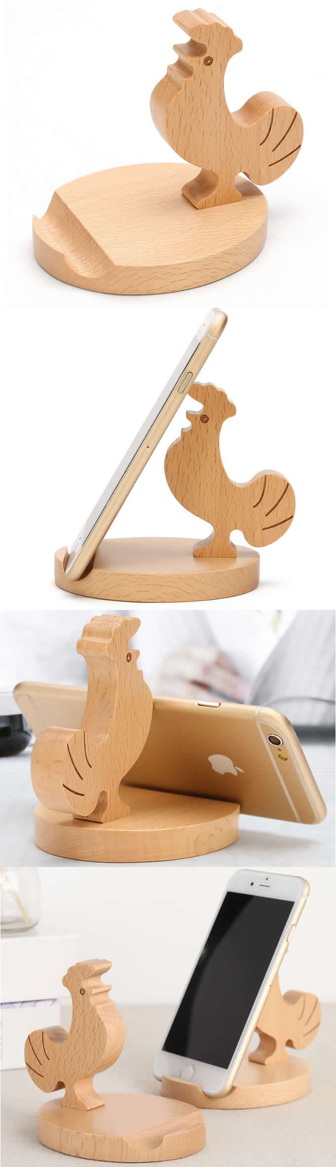Wooden Roster Cell Phone iPad Stand Holder