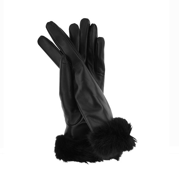 Italian leather, fur trimmed gloves. These would make a beautiful gift to unwrap this Christmas #Christmas #giftideas #gloves