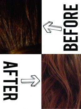 My Hair: Before and After (One Treatment)