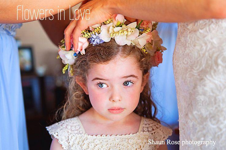 Flower girl flowers halo circlet