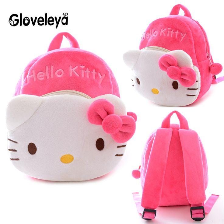 KAWAII !! Plush 2 Layer Kids Girls Boys Rilakkuma Hello Kitty Sheep Elephant Lilo Stitch Totoro Schoolbags Backpack Bags 9*8'' - Top Kawaii - Best Online Kawaii Shop Top Kawaii - Best Online Kawaii Shop