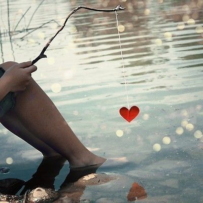 fishing for love.