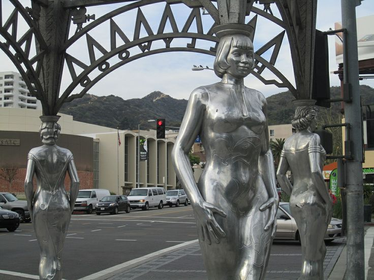 The Hollywood Gateway sculpture on Hollywood Boulevard at