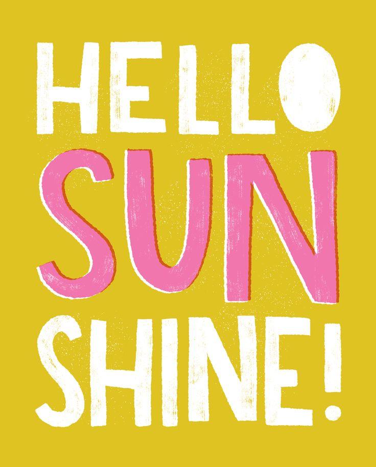 Hello Sunshine Art Print - Hooray Today