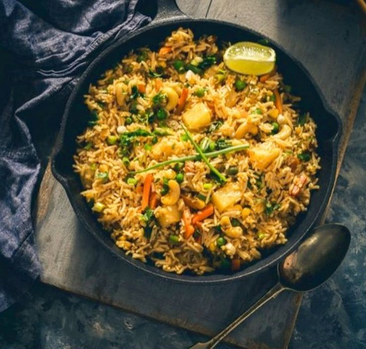 Coconut, Pineapple Thai Fried Rice | Food Recipes
