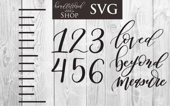 Download Growth Chart SVG | Loved Beyond Measure Svg | Script SVG ...