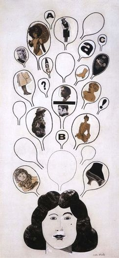 PETER BLAKE UNTITLED COLLAGE, c1957 ink, watercolour and gouache on paper 17 x 8 inches / 43.2 x 20.3 cm