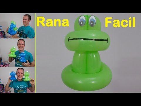 como hacer ositos con globos - globoflexia facil - oso con globos largos paso a paso - YouTube