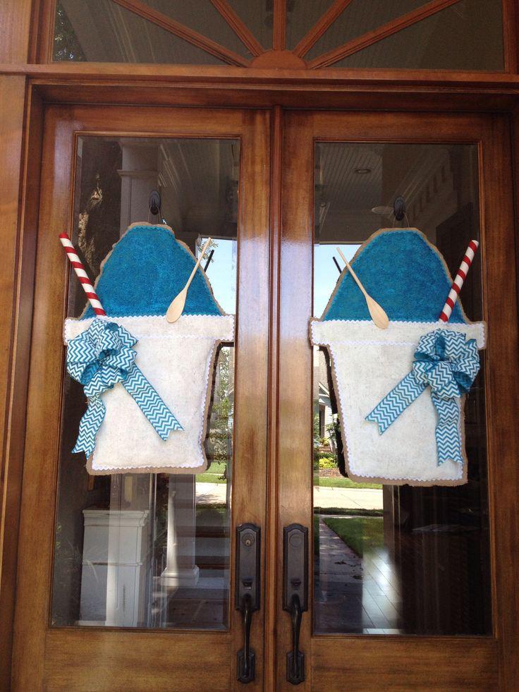 Snowball Burlap Door Hanger & 101 best My Burlap Door Hanger Creations images on Pinterest ...