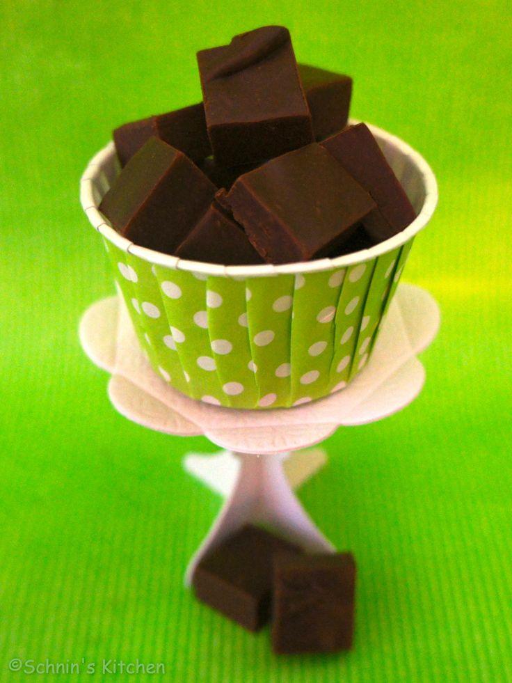 Schokoladen-Pfefferminz-Fudge