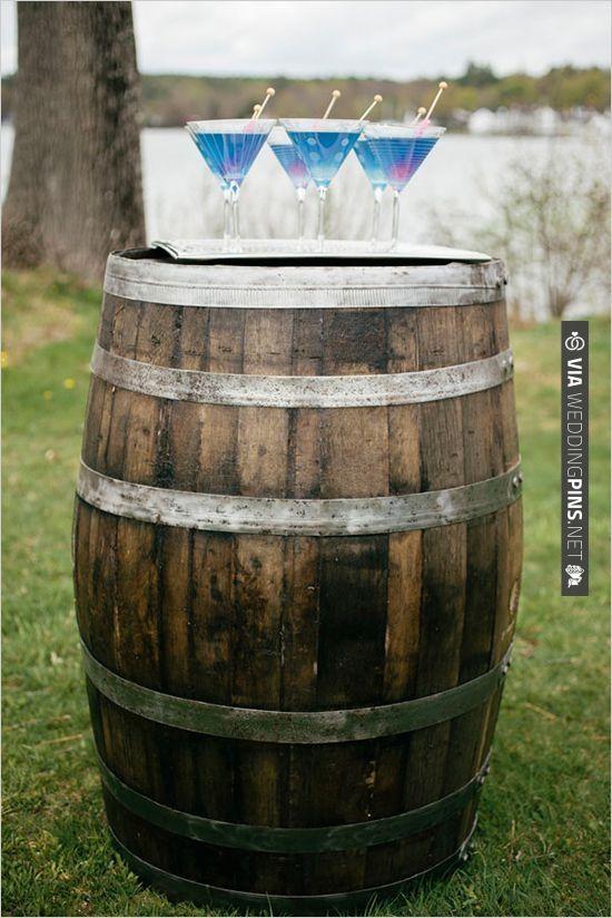 blue signature wedding cocktail | CHECK OUT MORE IDEAS AT WEDDINGPINS.NET | #weddingfavors