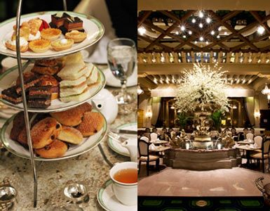 """Afternoon tea at the Palm Court at the Drake or as some call it """"high tea."""" No matter what you call it, it's a beautiful afternoon treat."""