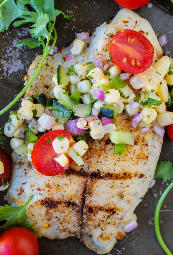 Grilled Tilapia with Corn Salsa @foodcharlatan