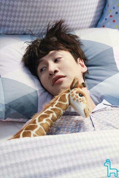 Lee Kwang Soo's LINE  giraffe doll