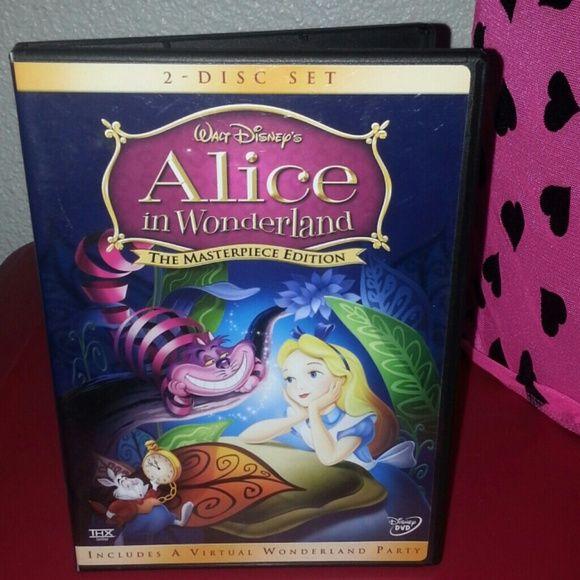 Alice in Wonderland Walt Disney dvd Alice in Wonderland Walt Disney dvd mint Disney Other
