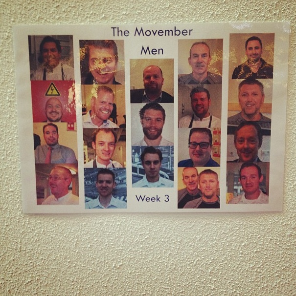 A guest took this picture of the Movember Men in Casa!