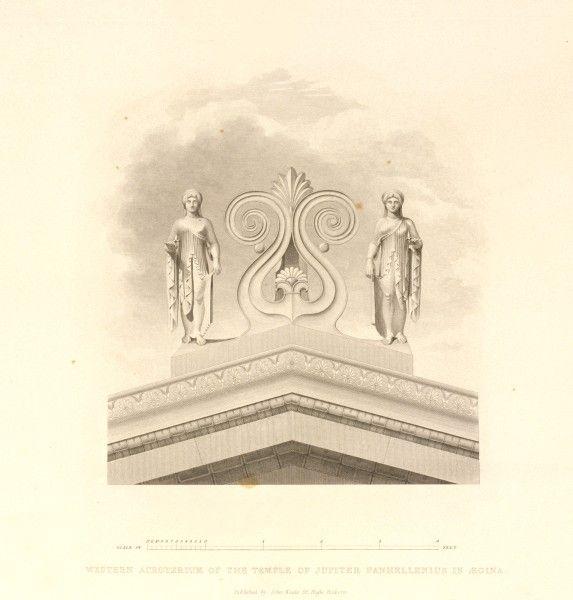 Ακροκέραμα: Τα σχέδια του Charles Robert Cockerell για το ναό της Αφαίας στην Αίγινα