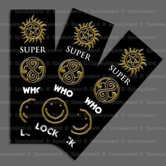 SuperWhoLock premium bookmark – Supernatural – Doctor Who – Sherlock fandoms