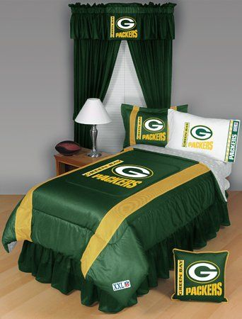 GREEN BAY PACKERS QUEEN 5 PIECE BEDDING SET Boy Football NFL bag From Dream Time Kids Bedding
