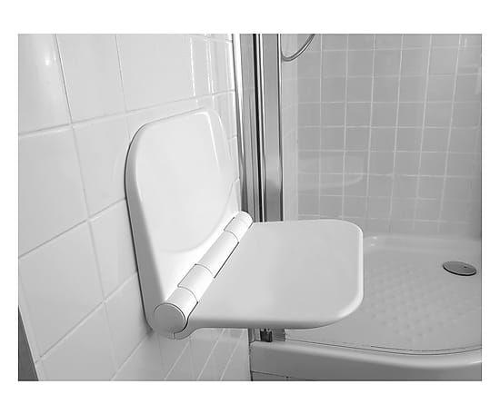 Sedile doccia a ribalta in polipropilene, 37x29 cm