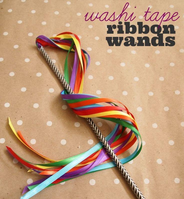DIY Ribbon Wands in 5 Minutes! - Becoming Martha