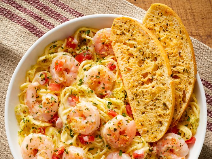 Shrimp Scampi And Spinach Pasta