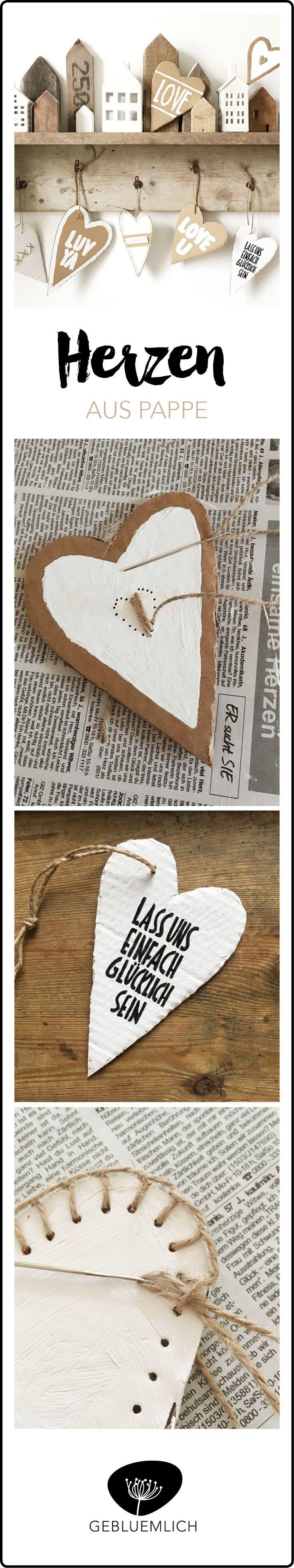Pinterest Herz aus Pappe