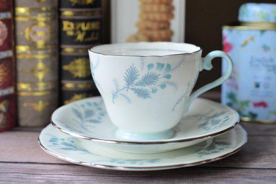 Aynsley Las Palmas Teacup And Saucer Trio English Bone China Tea