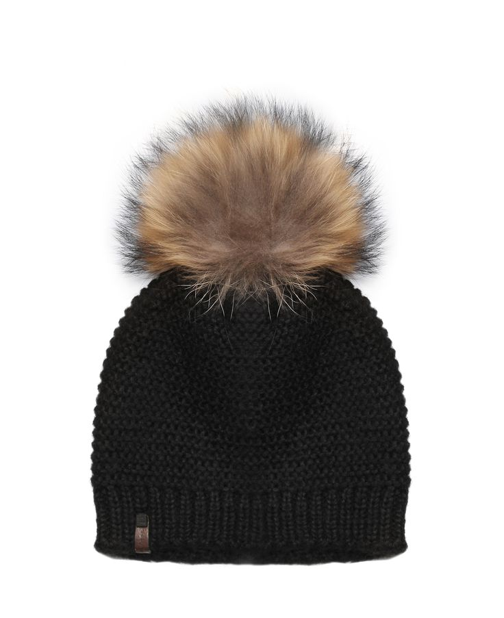 RUDSAK (BLACK/NATURAL , 100% ACRYLIC AND RABBIT FUR) | RORY $55