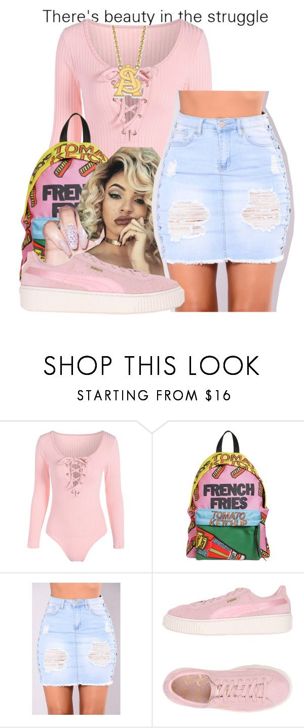 """Cloud 9 ☁"" by littydee ❤ liked on Polyvore featuring Leo Studio Design, Puma and LogoArt"