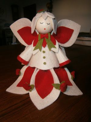 L'ora del te: Angioletto di Natale in feltro