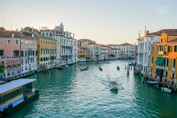 Venedig entdecken, Canale Grande, Gelbkariert Blog