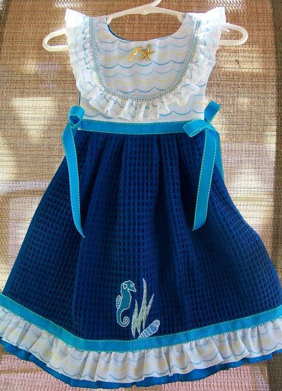 Ocean Breeze Seahorse Blue Oven Door Dish by TowelswithaTwist