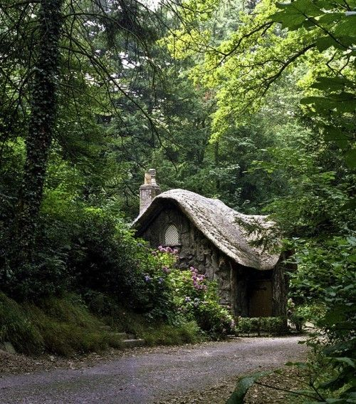 Fairy Tale Cottage. I want to hide away from the wold here.
