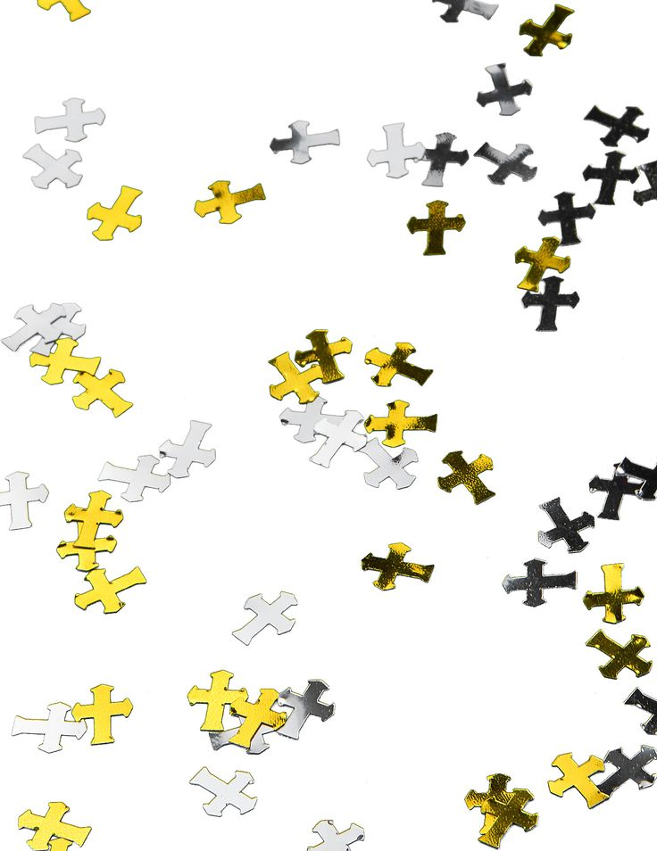 Gouden en zilveren kruizen confetti