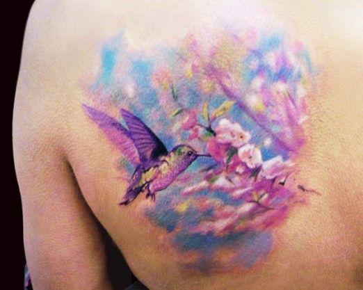 Adam Kremer #bird #colorful #floral #flower #tattoo #tattoos #inkedMagazine #inked