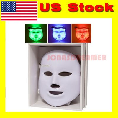 3 color led facial mask skin rejuvenation beauty tender anti acne