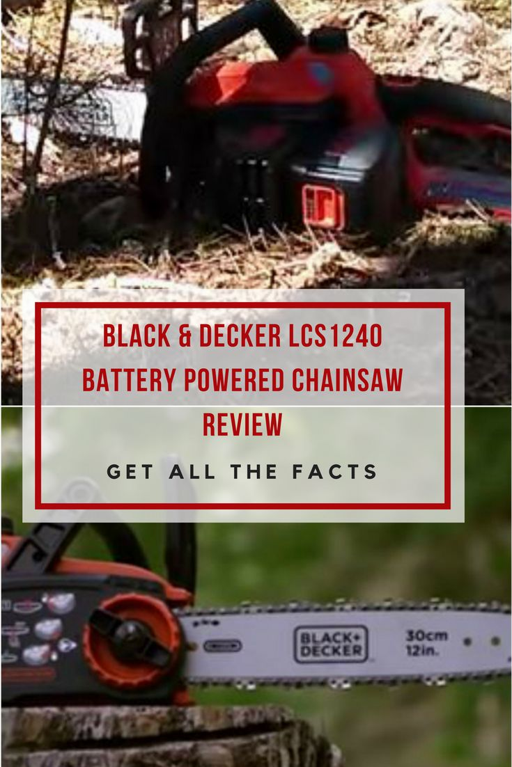 Battery powered chainsaws are intended for low demand jobs.If this is enough for you, then you should read my Black & Decker lcs1240 review! via @powertoolsninja