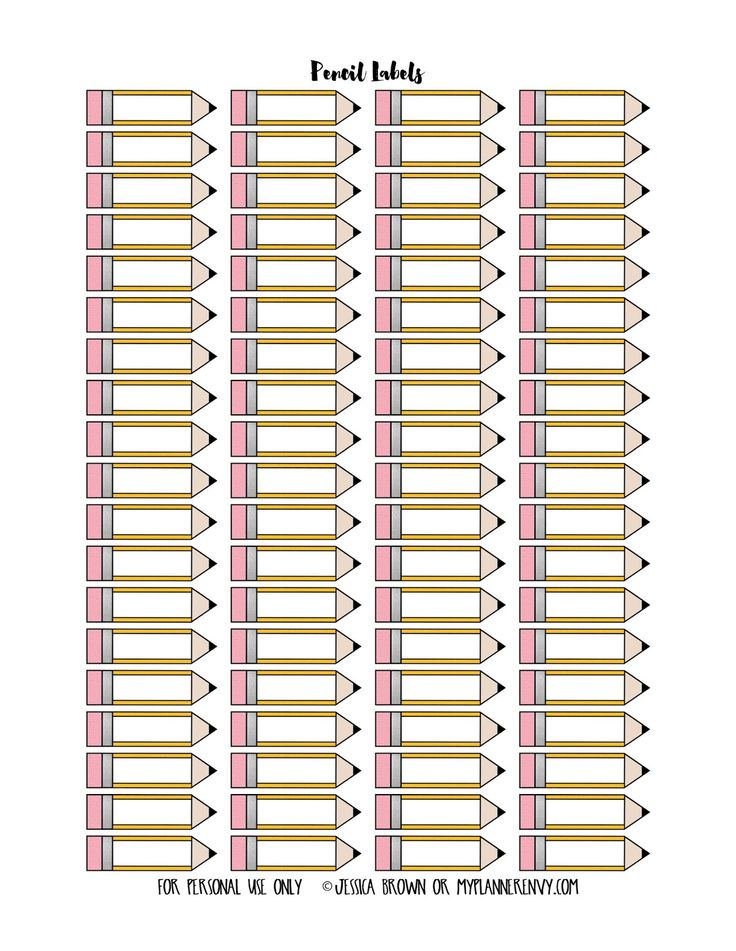 Pencil Labels from myplannerenvy.com