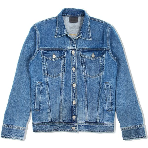 Lennon Jacket - levis blue (€65) ❤ liked on Polyvore featuring outerwear, jackets, veste, tops, blue jean jacket, levi's, jean jacket, levi jacket and blue jackets