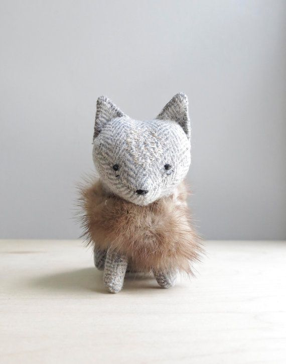 arctic fox / soft sculpture animal